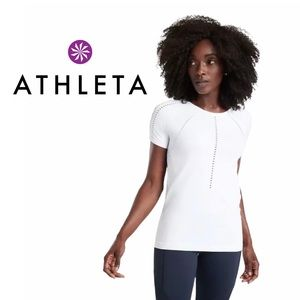 Athleta Foothill Tee Bright White Seamless Top